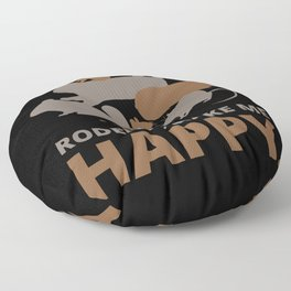 Rodents make me happy Floor Pillow