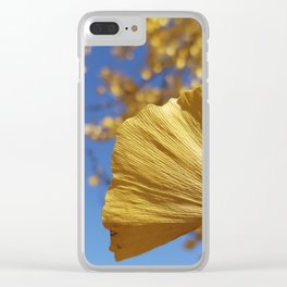 Ginkgo Gold! With sapphire sky Clear iPhone Case