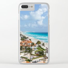 Cancun city on beachside Clear iPhone Case
