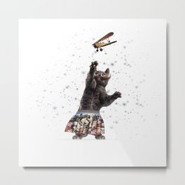 Catch it cat Metal Print