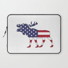"""Moose """"American Flag"""" Laptop Sleeve"""