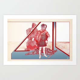 A Story About A Girl Art Print
