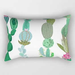 Cactus and succulent tropical pattern Rectangular Pillow