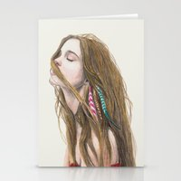 wind Stationery Cards featuring The Wind by Carlos ARL