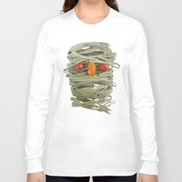 pasta Long Sleeve T-shirts featuring A Thing of the Pasta by Marco Angeles