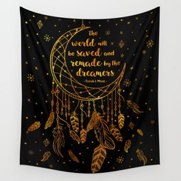 Saved and Remade - gold Wall Tapestry