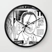 scandal Wall Clocks featuring Tom Ford Scandal by CLSNYC