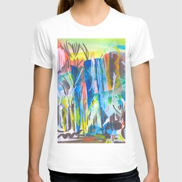 Abstract landscape expressionist T-shirt