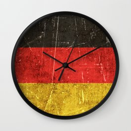 Vintage Aged and Scratched German Flag Wall Clock