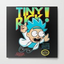 Tiny Rick! Metal Print