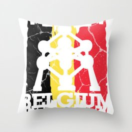 Belgium gift Brussels Belgian Flemish Throw Pillow