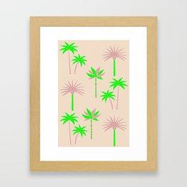 Palm Trees - Green & Neutral Framed Art Print