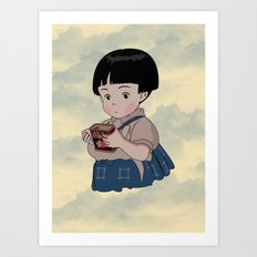 Grave of the Fireflies (Hotaru no haka) Art Print