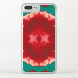 Melted Hearts Clear iPhone Case
