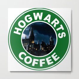 Potter's Coffee Metal Print