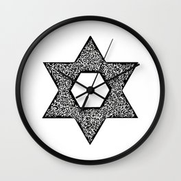 Star of David (Jewish star) Wall Clock