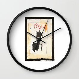 Basquiat 1960 Wall Clock