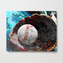 Baseball print work vs 3 Metal Print