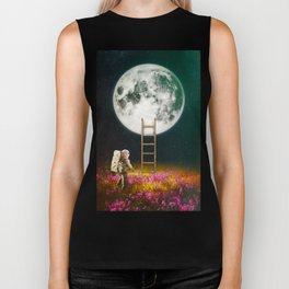Going To The Moon Biker Tank