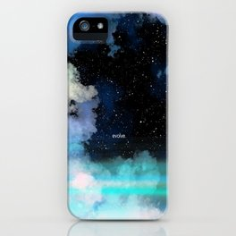 Evolve In Blue iPhone Case