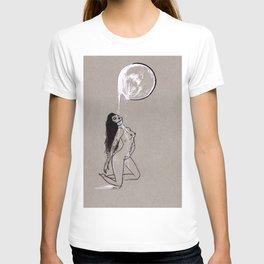 Moon Milk - Moonbathing Goddess Illustration T-shirt