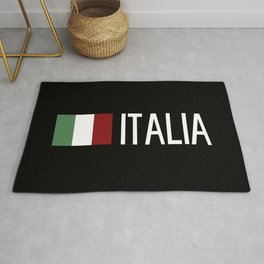 Italy: Italia & Italian Flag Rug