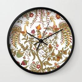 The garden of Eden. Birds. Wall Clock