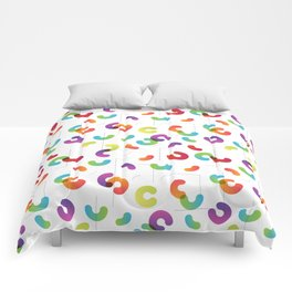 Funny color design. Arcs and Lines #1 Comforters