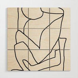 Abstract line art 2 Wood Wall Art