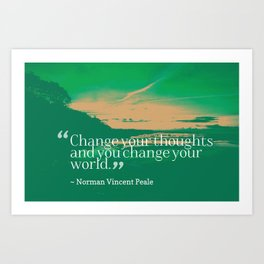 Inspirational Timeless Quotes - Norman Vincent Peale Art Print