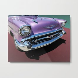 Purple 1950s Chevrolet Wagon Front End Metal Print