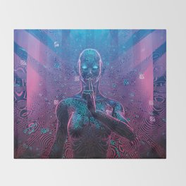 Artificial Secrets Throw Blanket