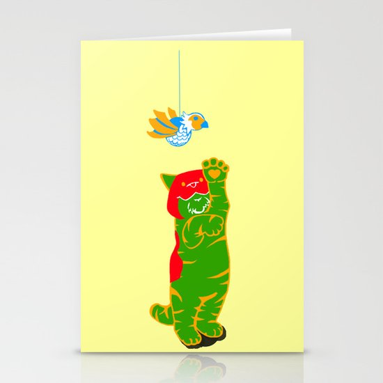 Here Battle Kitty Kitty Stationery Cards