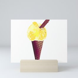 Ice Cream With Chocolate Flake Mini Art Print