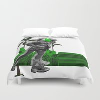 moscow Duvet Covers featuring Moscow Jungles by Tate Bacalao