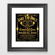 Jake the dog's Framed Art Print