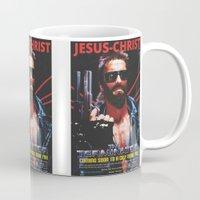 terminator Mugs featuring God's Terminator by Jessie J. De La Portillo