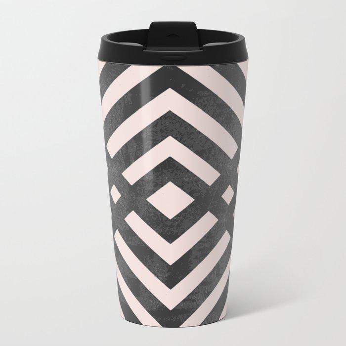 Geometric loop Metal Travel Mug