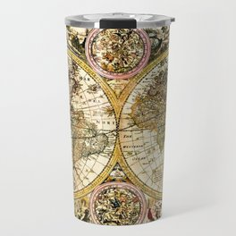 Gorgeous Old World Map Art from 15th Century Travel Mug