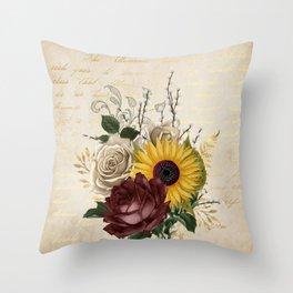 Macro Flowers 50 Throw Pillow