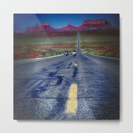 Monument Valley Twilight Metal Print