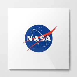 N A S A - National Aeronautics and Space Administration Metal Print
