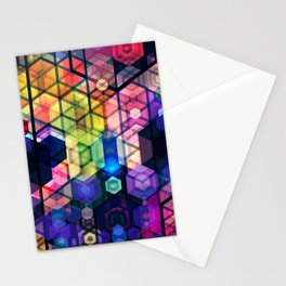 Monstrously colorful elementary particles Stationery Cards