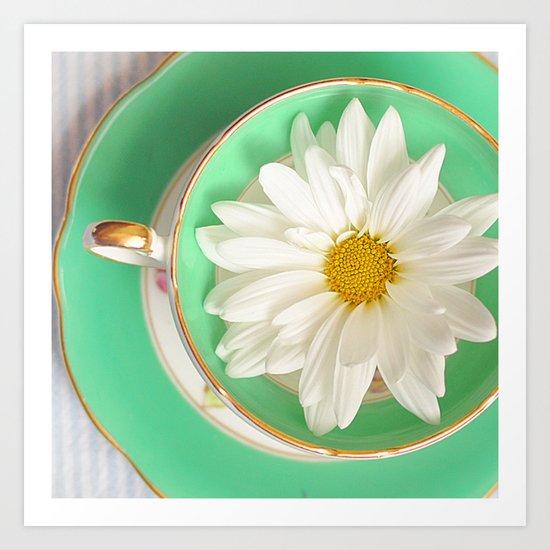 Mint Tea Art Print