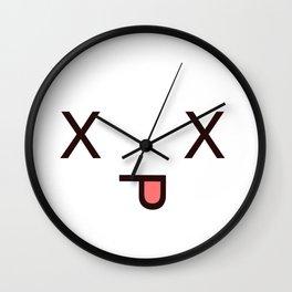 #Dead Face Kawaii Emotion X_X Wall Clock