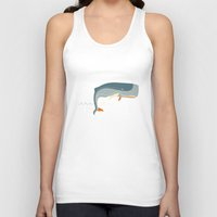 moby Tank Tops featuring Moby Dick by Monsieur_P