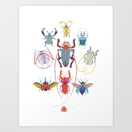 Stitches: Bugs Art Print