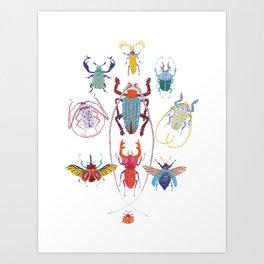 Stitches: Bugs Art Print