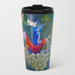 Chardonnay Label Art for BIN 616 Travel Mug