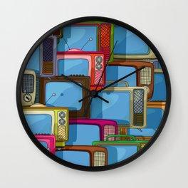 Tv set pattern Wall Clock